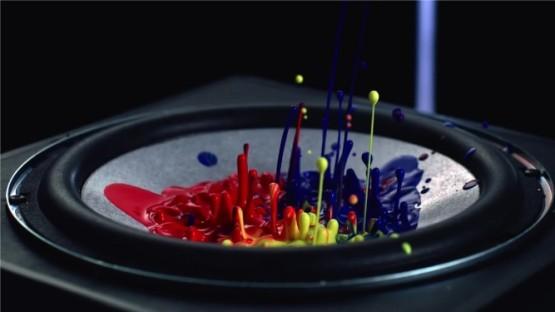 Sony визуализировал звук в рекламе